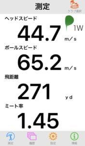 M5ドライバーの飛距離