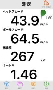 M6ドライバーの飛距離