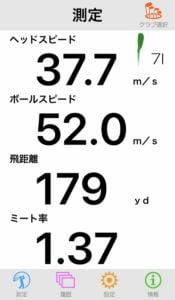 M4アイアンの飛距離