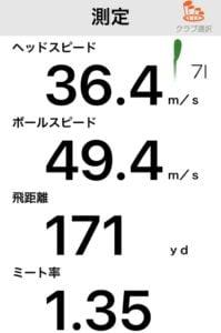 オノフKUROアイアンの飛距離データ