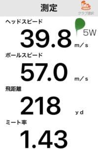 JGRフェアウェイウッド2019飛距離データ