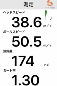 JGR HF3アイアンの飛距離