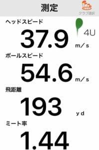 ONOFF オノフ フェアウェイ ウイングス KUROの飛距離データ